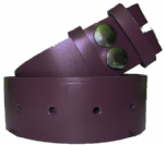 38mm Purple Snap Fit Leather Belt